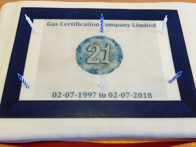 Gas Certs 21st Birthday