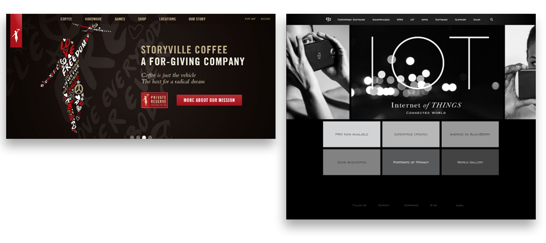 Storyville Coffee company & Blackberry